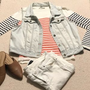 Light washed denim vest